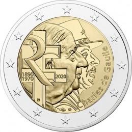 Francia 2020 - 2 euro commemorativo 50° anniversario della morte e 80° anniversario dell'Appello del 18 giugno 1940.