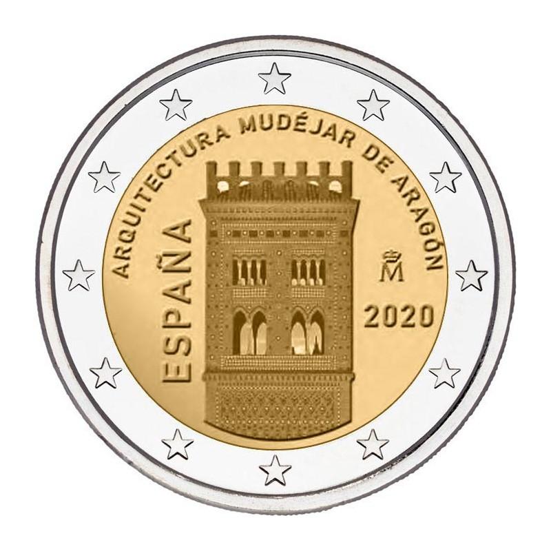 Spagna 2020 - 2 euro commemorativo architettura mudejar, 11° moneta della serie dedicata ai siti UNESCO spagnoli.