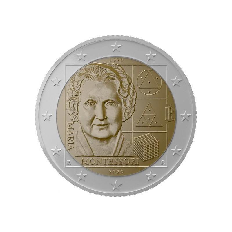 Italia 2020 - 2 euro commemorativo 150 ° anniversario della nascita di Maria Montessori.