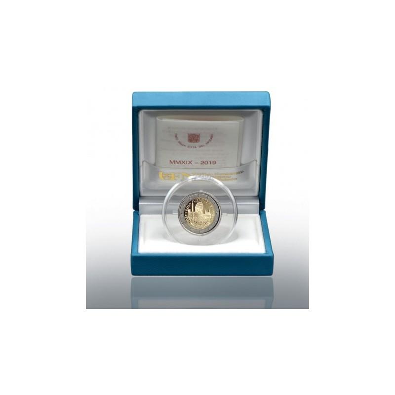 Vaticano 2019 - 2 euro commemorativo Proof 90° anniversario dello Stato della Città del Vaticano.