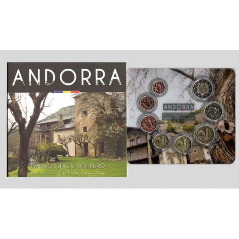 Andorra 2019 - Divisionale ufficiale 8 valori