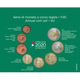 Italia 2020 - Divisionale euro ufficiale 8 valori 2€ - 1€ - 50c. - 20c. - 10c. - 5c. - 2c.- 1c.