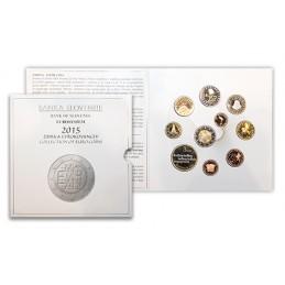 Slovenia 2015 - Divisionale euro ufficiale 10 valori 3€ - 2€ Comm. - 2€ - 1€ - 50c. - 20c. - 10c. - 5c. - 2c.- 1c.