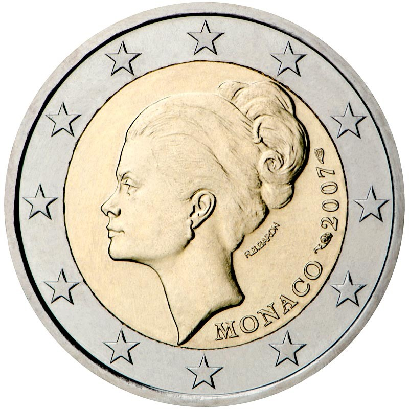 Monaco 2007 - 2 euro commemorativo 25° anniversario della morte di Grace Kelly