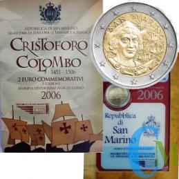 San Marino 2006 - 2 euro commemorativo 500° aniversario della morte di Cristoforo Colombo