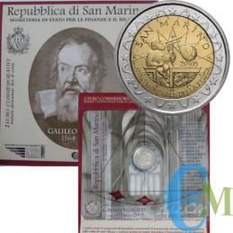 San Marino 2005 - 2 euro commemorativo anno mondiale della fisica - Galileo Galilei