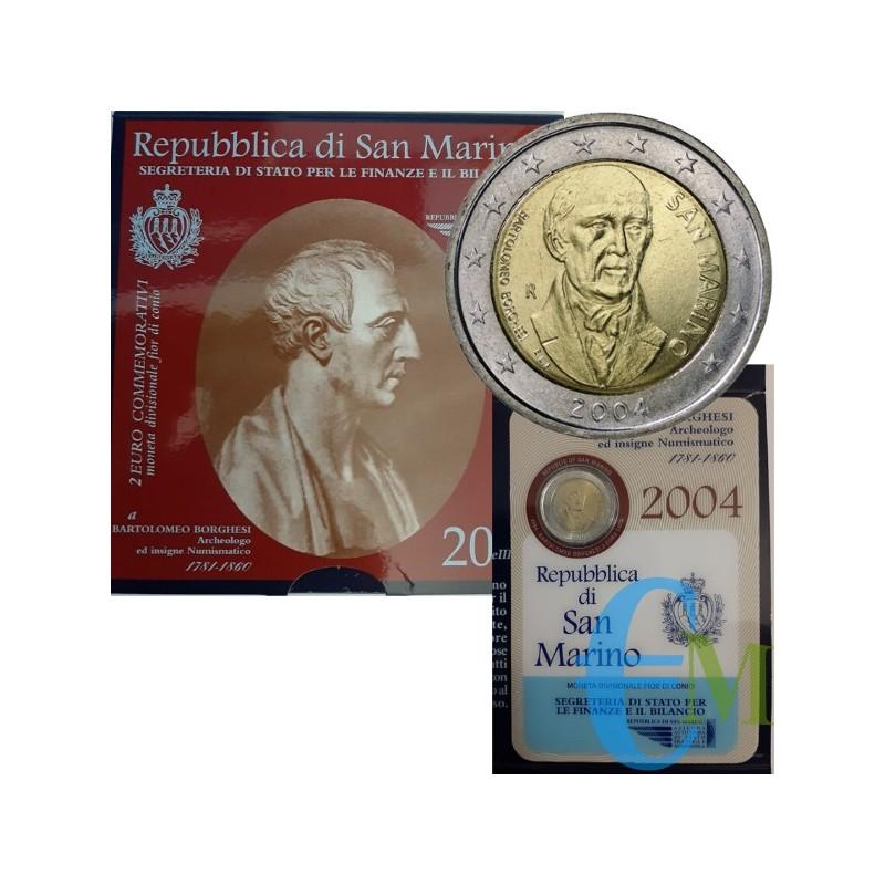 San Marino 2004 - 2 euro commemorativo Bartolomeo Borghesi