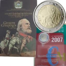 San Marino 2007 - 2 euro commemorativo Bicentenario della nascita di Giuseppe Garibaldi