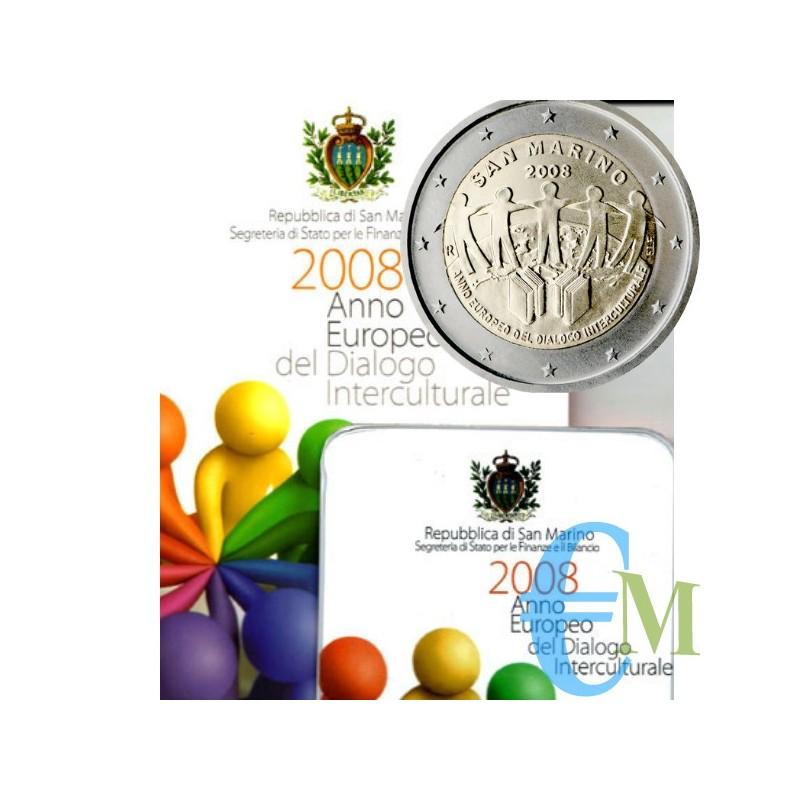 San Marino 2008 - 2 euro commemorativo anno europeo del dialogo interculturale