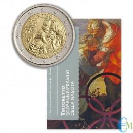 San Marino 2018 - 2 euro commemorativo 500° anniversario della nascita di Tintoretto