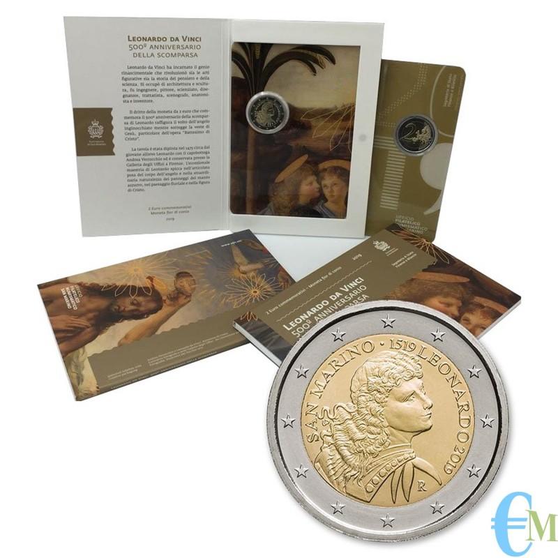 San Marino 2019 - 2 euro commemorativo 500° anniversario della morte di Leonardo da Vinci