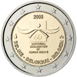 Belgique 2008 - 2 euros commémorative 60e anniversaire de la Déclaration Universelle des Droits de l'Homme