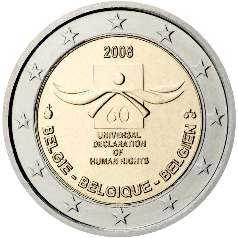 Belgio 2008 - 2 euro commemorativo 60° anniversario della Dichiarazione universale dei diritti dell'uomo