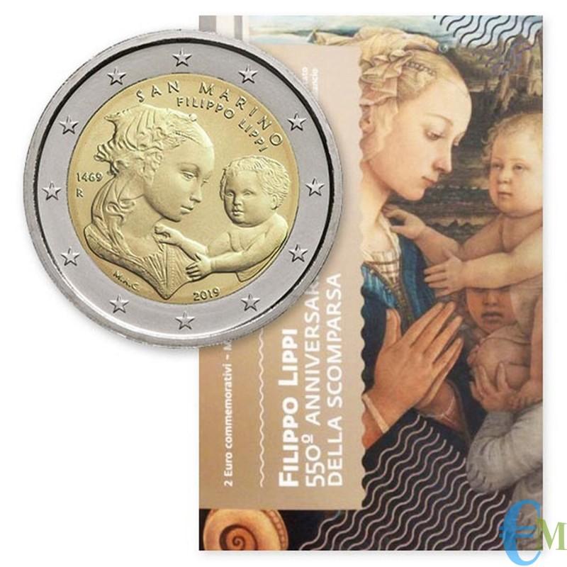San Marino 2019 - 2 euro commemorativo 550° anniversario della Morte di Filippo Lippi