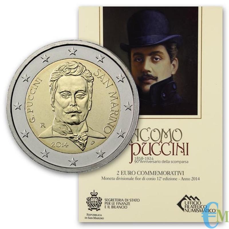San Marino 2014 - 2 euro commemorativo 90° anniversario della morte di Giacomo Puccini