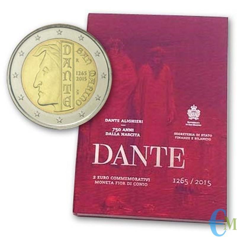 San Marino 2015 - 2 euro commemorativo 750° anniversario della nascita di Dante Alighieri
