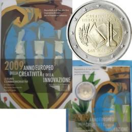 San Marino 2009 - 2 euro commemorativo anno europeo della creatività e dell'innovazione.