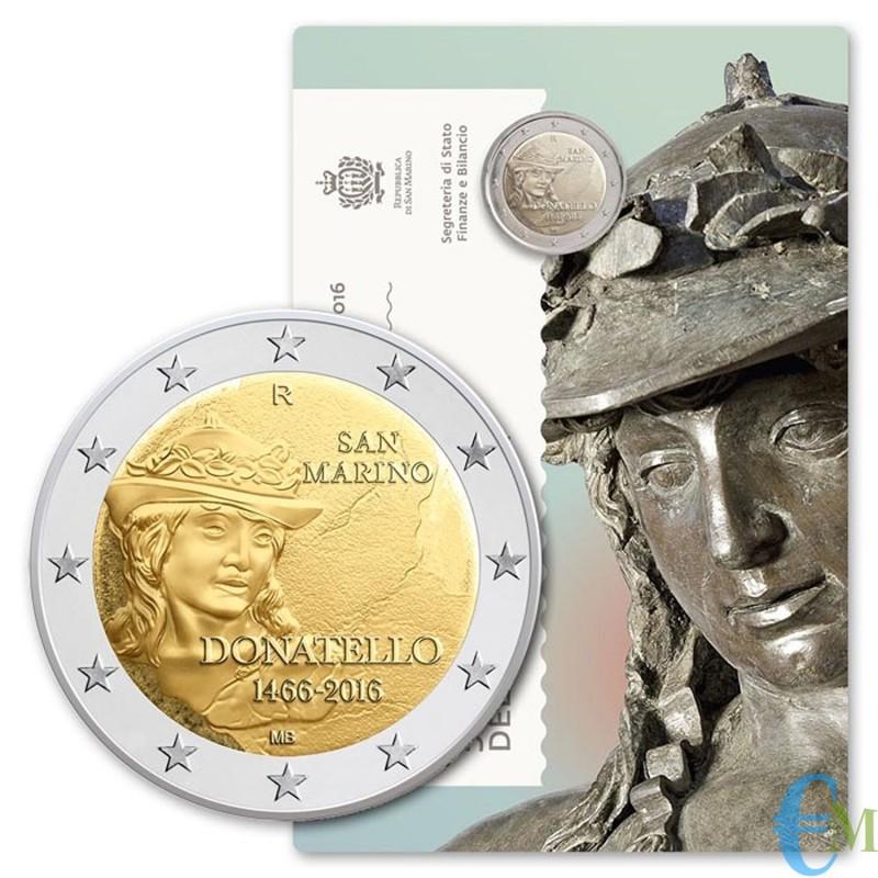 San Marino 2016 - 2 euro commemorativo 550° anniversario della morte di Donatello Niccolo di Benedetto Bardi