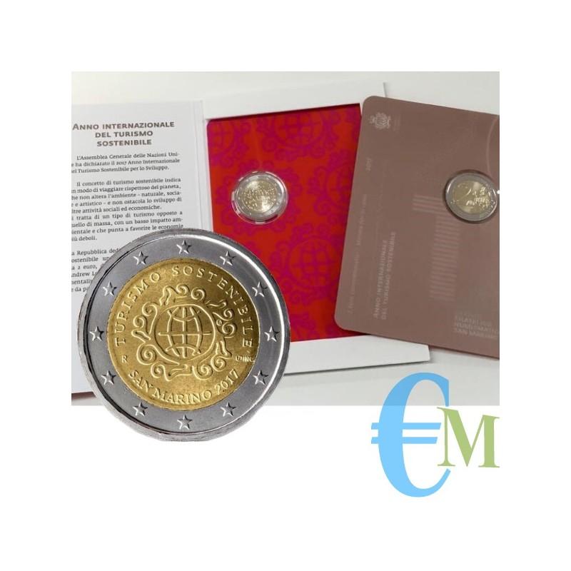 San Marino 2017 - 2 euro commemorativo anno internazionale del turismo sostenibile.