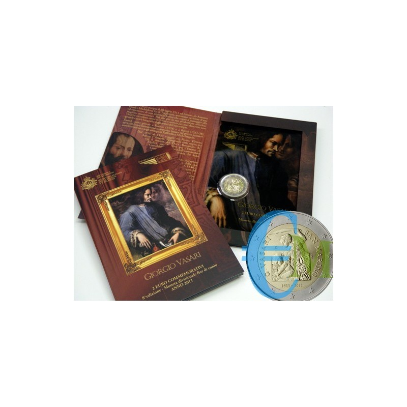 San Marino 2011 - 2 euro commemorativo 500° anniversario della nascita di Giorgio Vasari