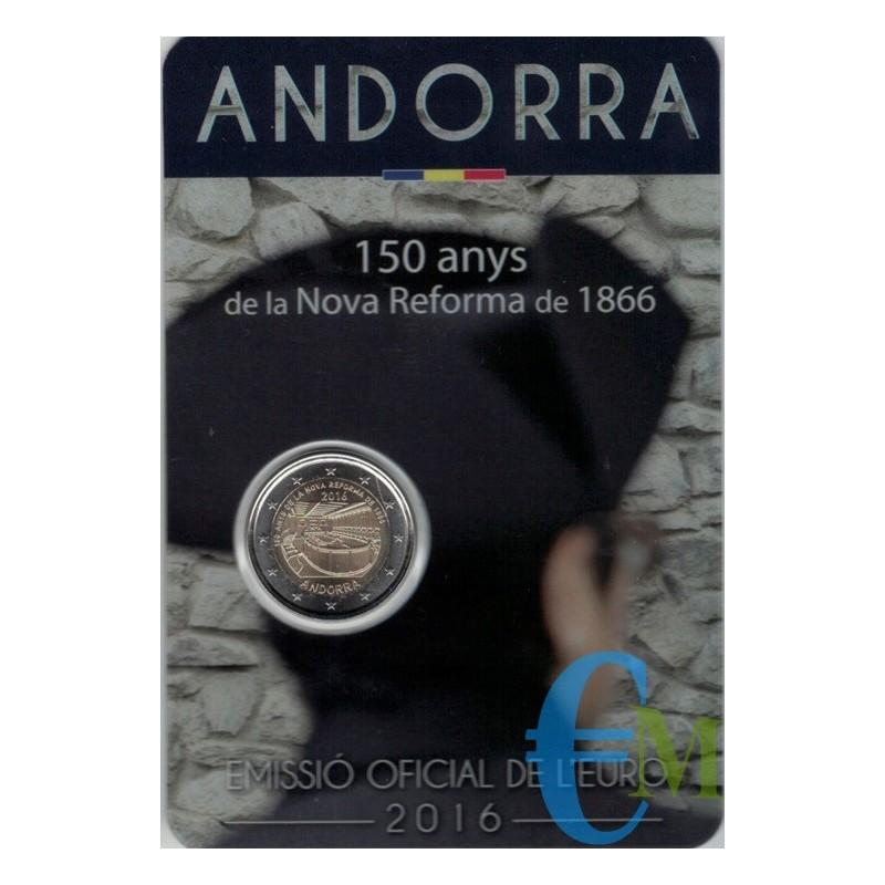 Andorra 2016 - 2 euro commemorativo 150° anniversario della nuova riforma del 1866.