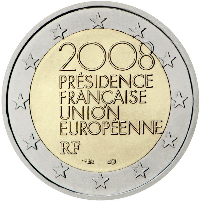 Francia 2008 - 2 euro commemorativo Presidenza del Consiglio dell'Unione europea della Francia