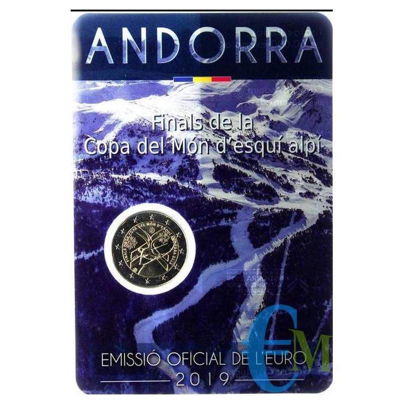 Andorra 2019 - 2 euro commemorativo finale della Coppa del Mondo di sci alpino