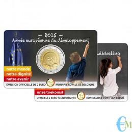 Belgio 2015 - 2 euro commemorativo anno europeo per lo sviluppo. Francese