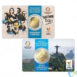 Belgio 2016 - 2 euro commemorativo squadra belga che parteciperà ai Giochi olimpici di Rio 2016. Olandese