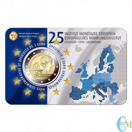 Belgio 2019 - 2 euro commemorativo 25° anniversario dell'istituto monetario europeo (EMI). Francese