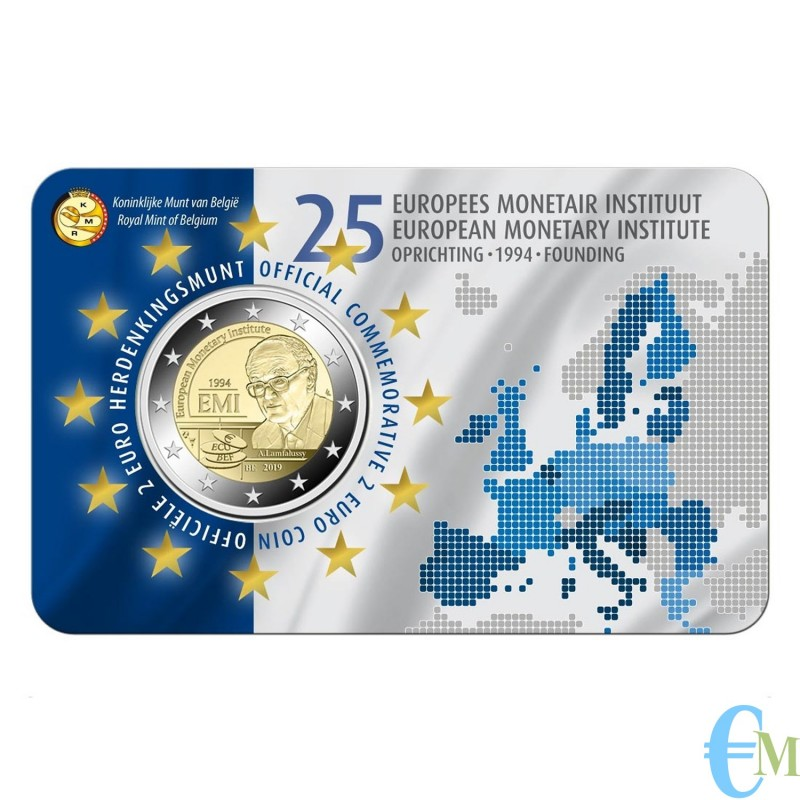 Belgio 2019 - 2 euro commemorativo 25° anniversario dell'istituto monetario europeo (EMI). Olandese