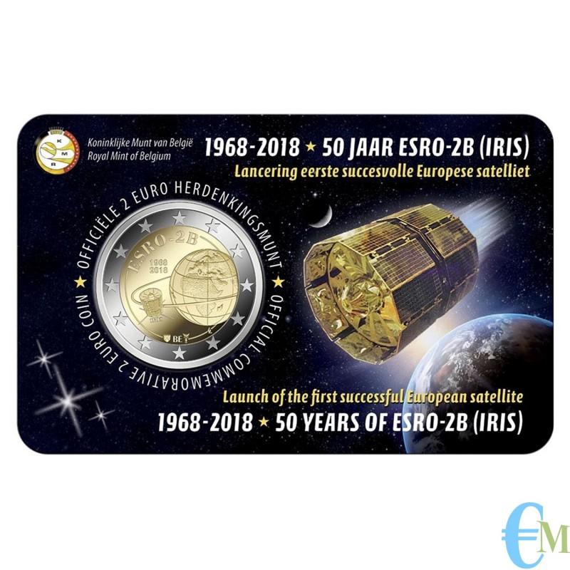 Belgio 2018 - 2 euro commemorativo 50° anniversario del lancio del satellite ESRO-2B. Olandese