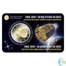 Belgio 2018 - 2 euro commemorativo 50° anniversario del lancio del satellite ESRO-2B. Francese
