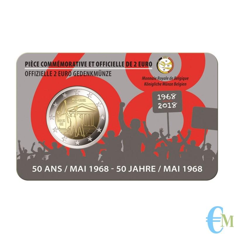 Belgio 2018 - 2 euro commemorativo 50° anniversario della rivolta studentesca. Francese