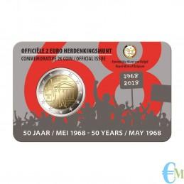 Belgio 2018 - 2 euro commemorativo 50° anniversario della rivolta studentesca. Olandese
