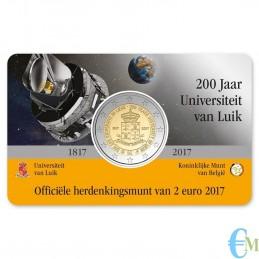 Belgio 2017 - 2 euro commemorativo 200° anniversario dell'Università di Liegi. Olandese