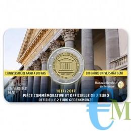 Belgio 2017 - 2 euro commemorativo 200° anniversario dell'Università di Gand. Francese