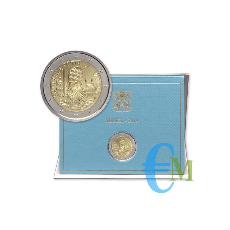 Vaticano 2019 - 2 euro commemorativo 90° anniversario dello Stato della Città del Vaticano.