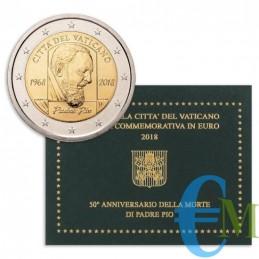 Vaticano 2018 - 2 euro commemorativo 50° anniversario della morte di Padre Pio (1887 - 1968)
