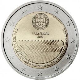 Portogallo 2008 - 2 euro commemorativo 60° anniversario della Dichiarazione universale dei diritti dell'uomo