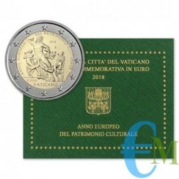 Vaticano 2018 - 2 euro commemorativo anno europeo del patrimonio culturale.