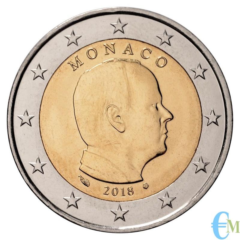 Monaco 2018 - 2 euro emesso per la circolazione