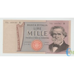 Italia - 1000 Lire Giuseppe Verdi 2° tipo 25.03.1969