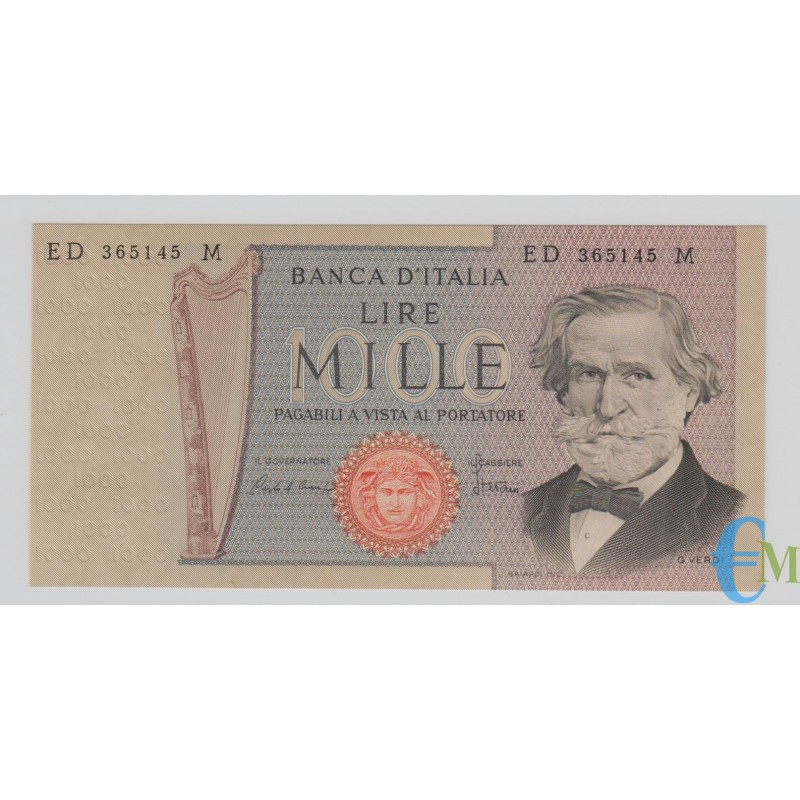 Italia - 1000 Lire Giuseppe Verdi 2° tipo 06.09.1980