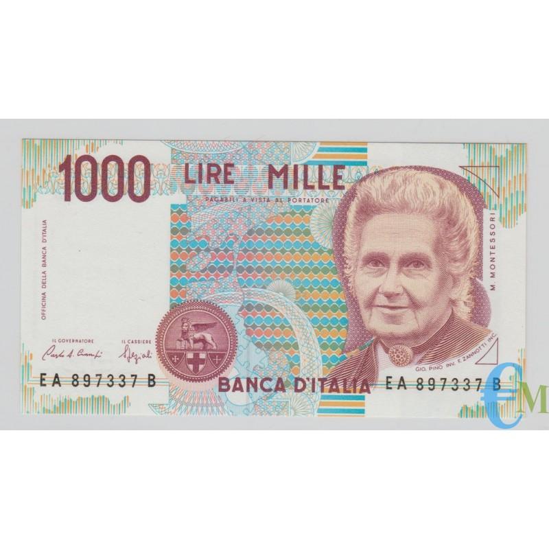 Italia - 1000 Lire Maria Montessori 24.10.1990
