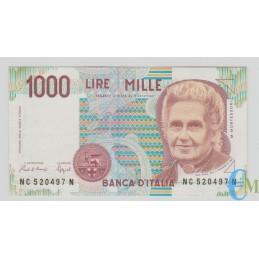 Italia - 1000 Lire Maria Montessori 10.03.1993 SPL