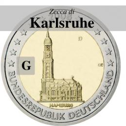 Germania 2008 - 2 euro Cattedrale Amburgo - Zecca G