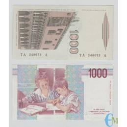 Italia - Lotto 1000 Lire M. Polo e 1000 Lire M. Montessori