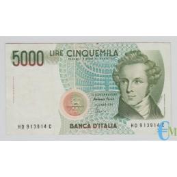 Italia - 5000 Lire Vincenzo Bellini D 26.11.1996