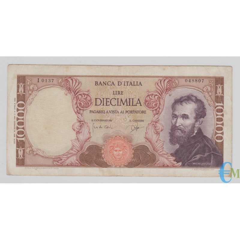 Italia - 10000 Lire Michelangelo 14.01.1964